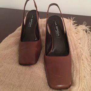 Stylish leather Sling back  3 inch heel